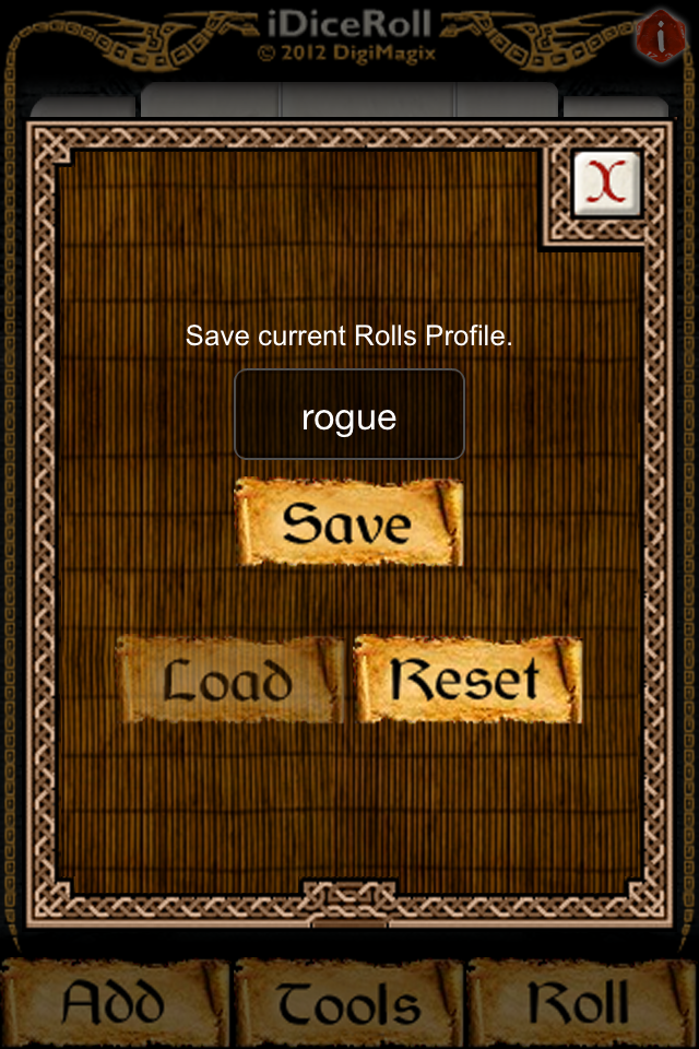 Screenshot iDiceRoll